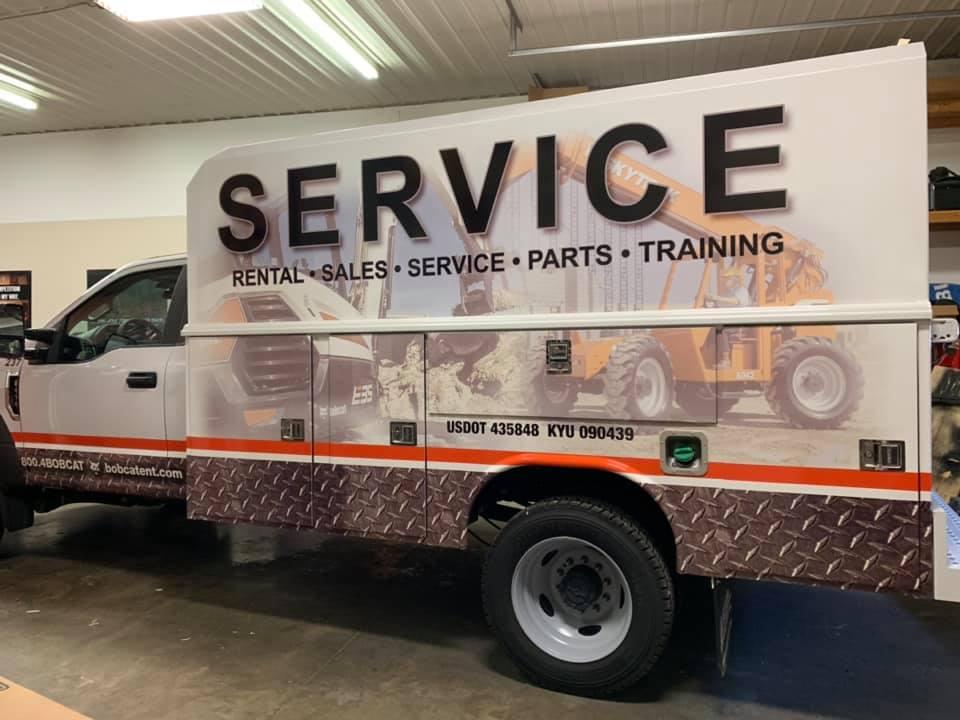 Service truck wrap